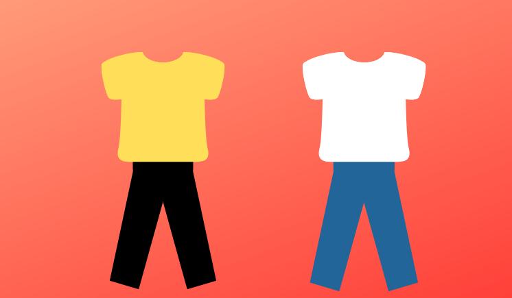 膨張色と収縮色の着こなし